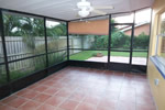 Screened Patio with Terrazzo floors