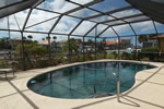 You'll love this birdcage screened pool