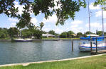 Waterfront view of sailboat water home in St Petersburg Florida marketed by Sharon Simms Real Estate Agent
